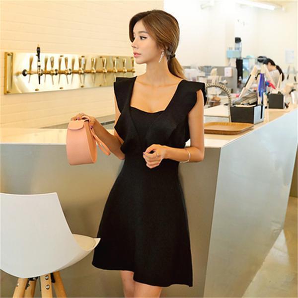 ダーリングフリルのワンピースnew ノースリーブ/トップワンピース/ワンピース/韓国ファッション