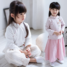 Traditional China Chinese wear for Girl Children costume performing clothes (T099)