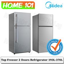 Midea Top Freezer 2 Door Refrigerator 193L - 370L [MD212][MD242][MRD268][MRD400]