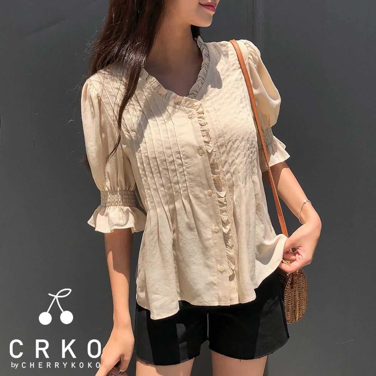 [CHERRYKOKO官方旗艦店] V領襯衫 / model cuer blouse