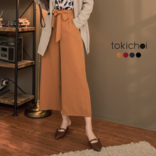 TOKICHOI - Tie Front Culottes-172726-Winter