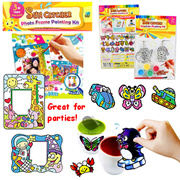 [Goodie Bag] Suncatcher Photo Frame / Keychains / Children Art and Craft / Painting Kit / Window Art