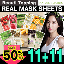 [Nature Republic]★11+11★Real Nature Mask 12 Types - Aloe / Bamboo / Tea Tree / Olive / Shea Butter