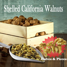 LOWEST PRICE ON QOO10! U.P. $30! Shelled California Walnut (Halves and Pieces) 500g For $9.90 1kg Fo