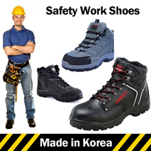 ★Made in Korea★ Mens Safety Shoes Safety boots Safety Work boots Steel Toe Cap Zipper n Velcro