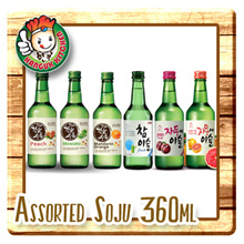 Soju ChamIsul Fresh Alc17.8% Plum/ Grapefruit- Alc13% Moscato/ Peach- Alc14% Orange Alc16% 360ml
