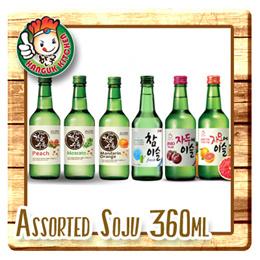 Soju ChamIsul Fresh Alc17.8% Plum/ Grapefruit- Alc13% Moscato/ Peach- Alc14% Orange Alc16% 360ml