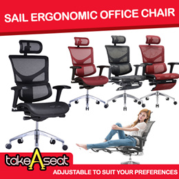 BEST ERGO Office Chair [SAIL SERIES] US PATENT DESIGN  Free setup  Delivery