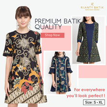 Rianty Batik New Arrival - 65% Off - Free Exclusive Notebook - Batik Women Dress