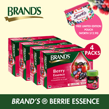 [FREE POUCH] FORTIFIED WITH VITAMINS BRANDS Berry Essence (4 pks x 12btl)