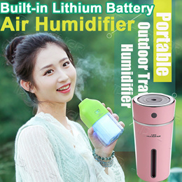 Rechargeable Built-in Lithium Battery USB Air Humidifier with Colorful LED Mood Lamp Ultrasonic