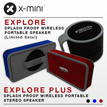 **Selling Fast**X-mini™ EXPLORE PLUS - Splash-Proof Wireless Portable Speaker