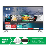 (RM4,199.00 After Coupon Applied) Sharp 60-inch 4K UHD Android TV SHP-LC60UA6800X *ORIGINAL PACKAGING/SEALED* MY Warranty/Malaysia