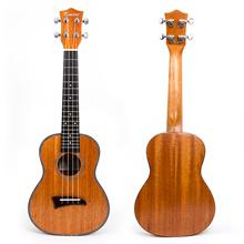 Kmise Concert Ukulele Mahogany Ukelele Uke Hawaii Guitar 23 inch with Celluloid Binding for Gift