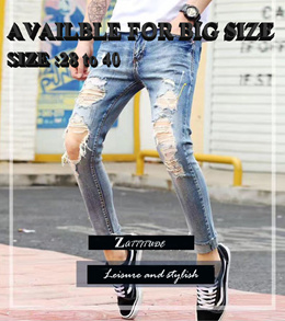 3a71538101a Kanye West Style RIpped Skinny Jean Damaged Jeans Torn Jeans Stretchable  jeans Ripped pants