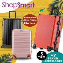 *APPLY Qoo10 COUPON*Aluminium Alloy Frame Luggage/Zipless Suit Case/TSA Lock/20 26 29Inch
