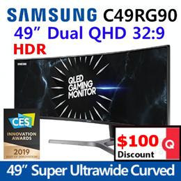 삼성전자 C49RG90 49인치 QLED 게이밍 Daul QHD 모니터