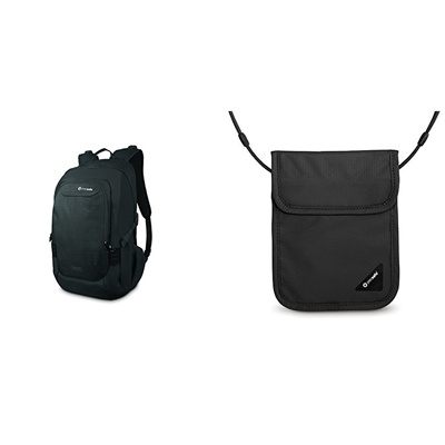 db6b02e08 Pacsafe PacSafe Venturesafe 25L GII Anti-Theft Travel Pack with RFID  Blocking Neck Pouch