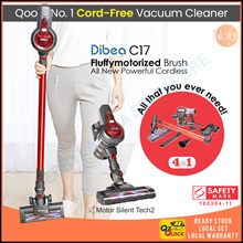[▼-65%] Dibea C17 Cordless 2 in 1 Lightweight Stick Handheld Vacuum Cleaner |SAFETY MARK