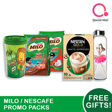 [NESTLÉ] Nescafe/ Milo Promo Packs - FREE GIFT + UP TO 50% OFF EXTRA
