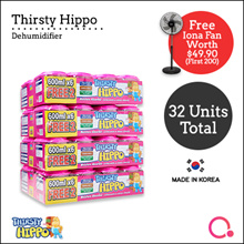 [RB] Thirsty Hippo Dehumidifier 600ml x 32 | Stocks from Singapore