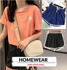 SGSELLER NEW UPDATE 2205👗Stayhome Pyjamas👚 Bestseller homewear series 🌼 Shorts/ Co-ord set /Casu