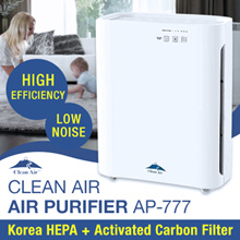 Clean Air AP-777 Air Purifier True HEPA filter Activated Carbon filter Washable Pre-Filter UV
