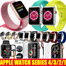 2018 iWatch 4 !!! Apple Watch Strap case Tempered Glass Watch band for Apple Watch Series 4 3 2 1