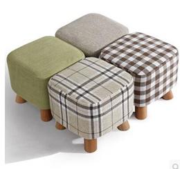Solid wood shoes stool fashion shoes stool creative stool fabric home stool sofa stool coffee table