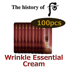 The history of Whoo Jinyulhayng Wrinkle Essential Cream 1mlx100pcs (Cosmetic Sample)