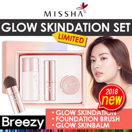 [BREEZY] ★ [MISSHA] Glow Skindation Limited Edition / Portable Foundation Brush / Glow Skinbalm