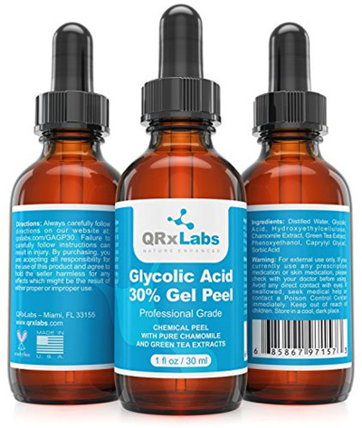 Glycolic Acid 30% Gel Peel with Chamomile and Green Tea Extracts - Professional Grade Chemical Face