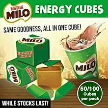 MILO Cube Pack 50 / 100pcs