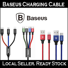 [Local Seller] Baseus Charging Cable / Micro USB / Lightning / Type-C / 3-in-1 Cable / 4-in-1 Cable