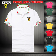 Ferrari Italy Classic Mens / Womens / Unisex Polo T-Shirt [Ferrari 100% Authentic]★Limited Offers !