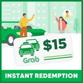 $15 GRAB RIDES VOUCHER | INSTANT REDEMPTION