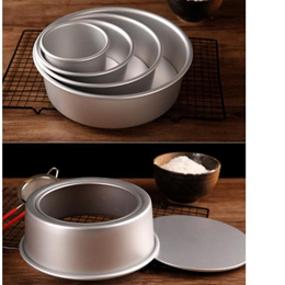 **Local Seller **  4 / 7 / 9 / 11 inch Aluminum Alloy Non-stick Round Cake Baking Mould