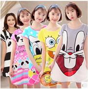 Soft cartoon pyjamas short sleeve pyjamas dress short Sleeve Pyjamas comfort  soft 339d73c2e