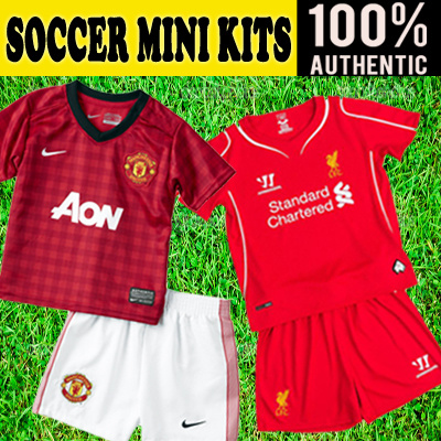 a6b803826 FOOTBALL SOCCER CLUB JERSEYS MINIKITS BABIES INFANTS TODDLERS CHILDREN BOYS  GIRLS MANCHESTER UNITED ARSENAL CHELSEA LIVERPOOL