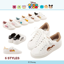 Gracegift-Disney Tsum Tsum Cotton Candy Platfrom Sneakers/Women/Ladies/Girls Shoes/Taiwan Fashion