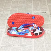 Summer children s slippers men slip Captain America cartoon flip-flops shoes foot home