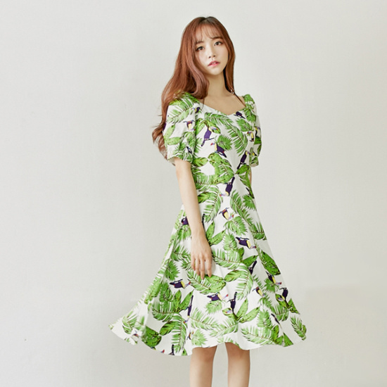 イニクファラッドリンネンOPSワンピース 綿ワンピース/ 韓国ファッション