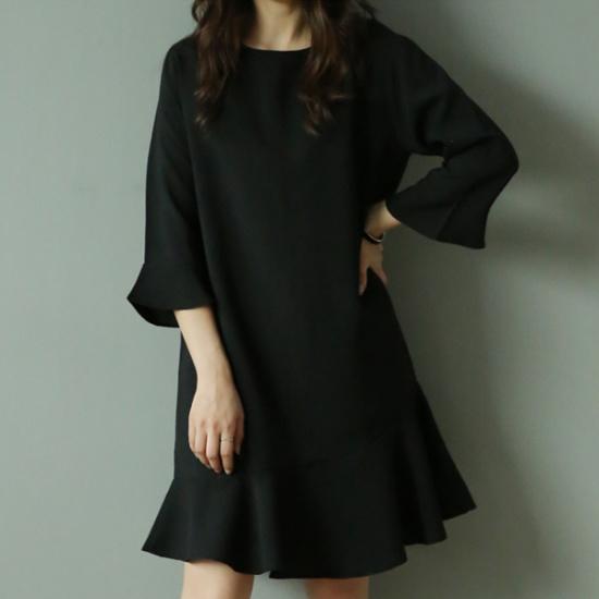 ビナインウェルルフルワンピース 綿ワンピース/ 韓国ファッション