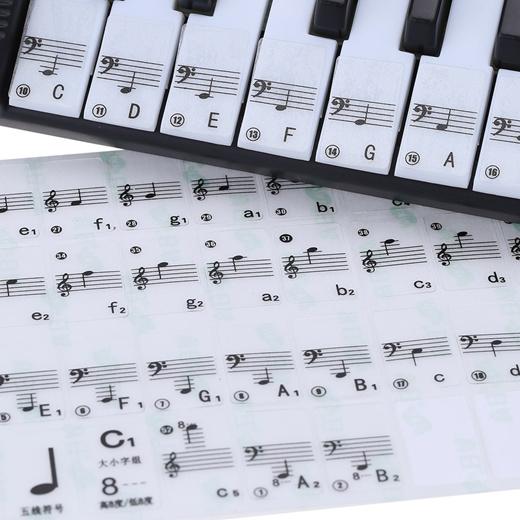 Qoo10 Transparan 49 61 Keyboard Elektronik Kunci 88 Key Piano Stave Note Sti Alat Tulis
