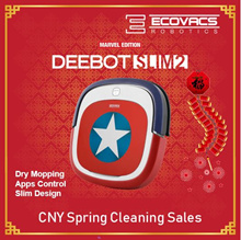 Ecovacs Deebot Marvel Slim2 Robot Vacuum Cleaner+Captain America+App Control