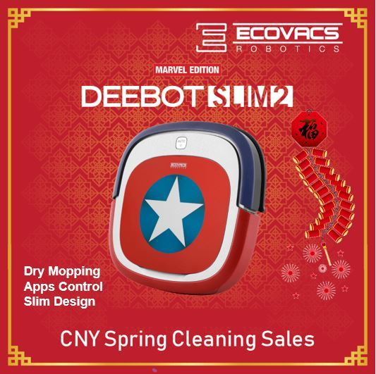 Ecovacs Deebot Marvel Slim2 Robot Vacuum Cleaner+Captain America+App Control Deals for only S$359 instead of S$359
