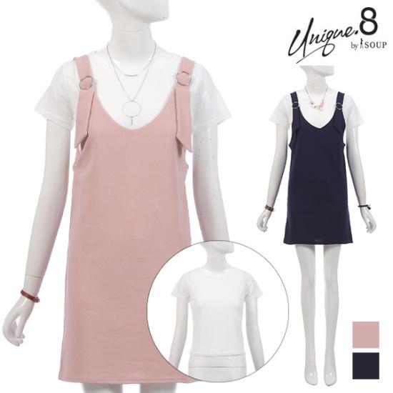 森SOUPOリングビュスチェワンピースセットSTFOP44 面ワンピース/ 韓国ファッション