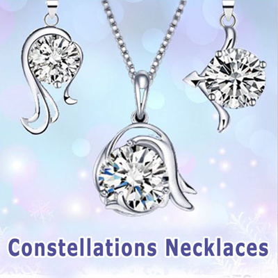 796a4f995 12 Constellations Necklace / Short Horoscope Necklaces / Silver Pendants