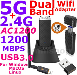 AC1200 2.4G 5G Dual Band Wireless USB Wifi Adapter portable AC 1200 600 dongle 3.0 nano repeater
