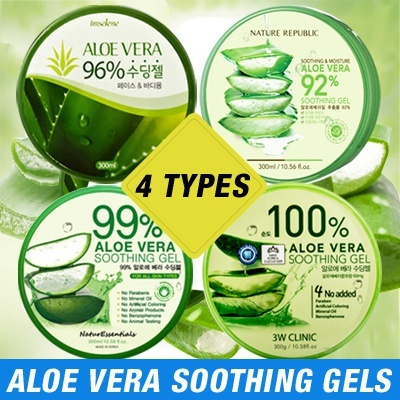 Top Selling Aloe Vera Soothing Gel oleh Nature Republic / 3W Clinic / TheFaceShop / NaturEssentials Deals for only Rp39.000 instead of Rp39.000